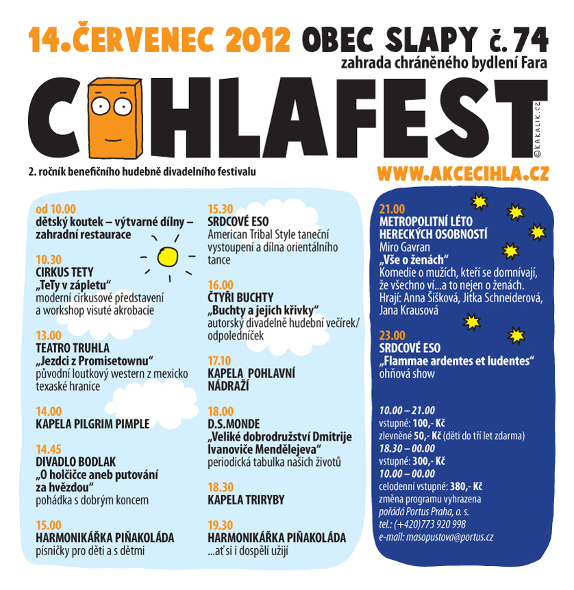Cihlafest program