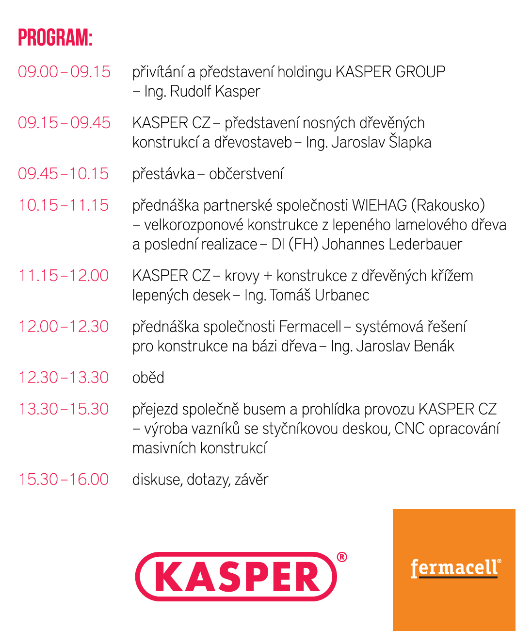 KASPER DAY 2014 – program
