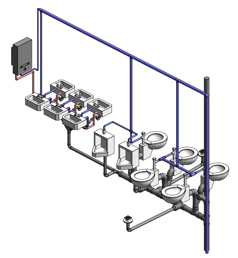 Wavin Ekoplastik připravil knihovnu 3D modelů PPR produktů