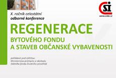 Poslední možnost zvýhodněného přihlášení na konferenci Regenerace bytového fondu a staveb občanské vybavenosti