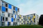 Úsporná okna Schüco Alu Inside ve studentských kolejích v Heidelbergu