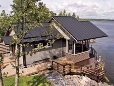 Ocelová střecha Ruukki je vhodná pro lehké konstrukce dřevostaveb