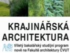 Fakulta architektury ČVUT otevírá nový studijní program Krajinářská architektura