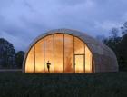 Forstpavillon ve Švábském Gmündu – Lehká dřevěná desková konstrukce z bukové překližky
