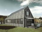Dům na šikmo – Atypický pasivní dům na bázi dřevostavby
