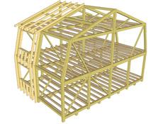 Návrh pasivní střešní nástavby na panelový dům G 57