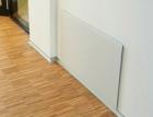 Skleněné kryty skříně podlahového topení