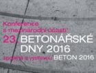 Betonářské dny 2016 – výzva k přihlášení příspěvků