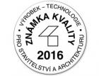 Soutěž Výrobek – technologie pro stavebnictví a architekturu za rok 2016 – výsledky