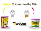 Weber obdržel stříbrnou a bronzovou Známku kvality 2016