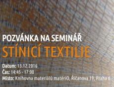 Seminář Stínicí textilie