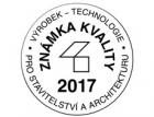Známky kvality Výrobek – technologie pro stavitelství a architekturu 2017 – výsledky