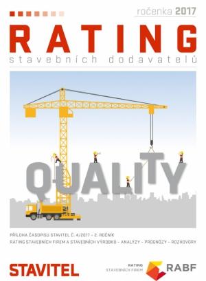 Rating stavebních dodavatelů 2017