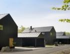 Tegelbruksviken: nízkoenergetické dřevostavby s plechovou střechou a nejmodernější vzduchotechnikou od Lindabu