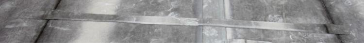 Obr. 2: Pásový vzorek pro měření tloušťky v celém průřezu