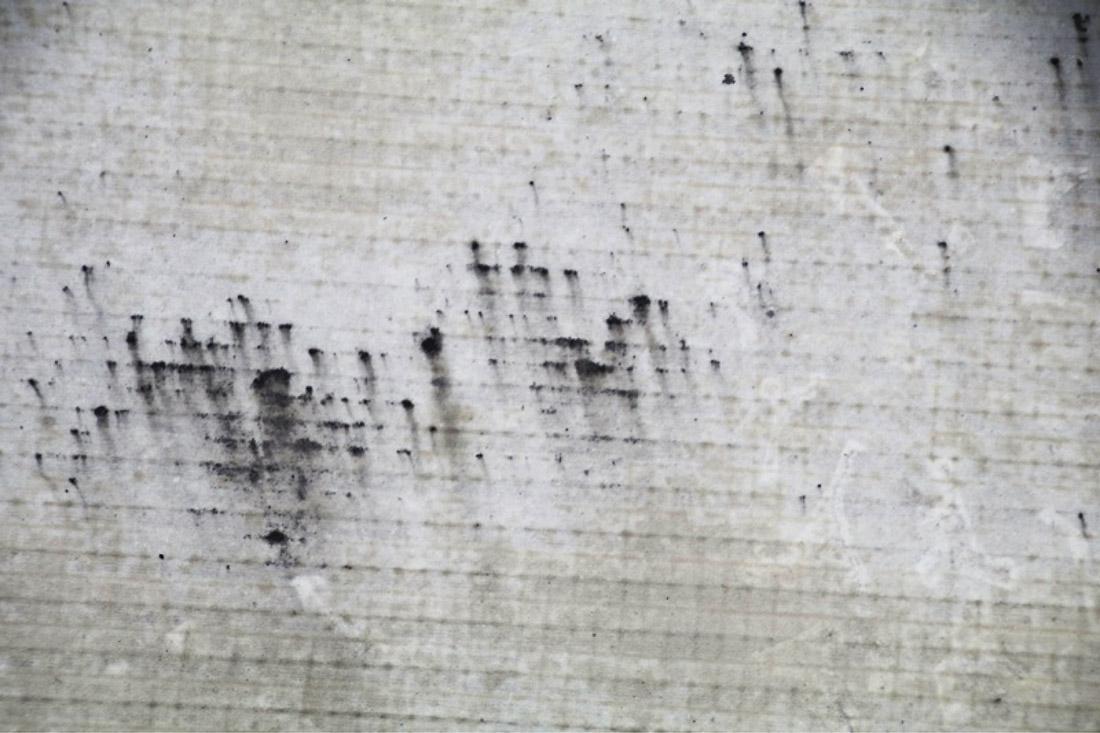 Obr. 4: Degradace povrchu fóliové hydroizolace