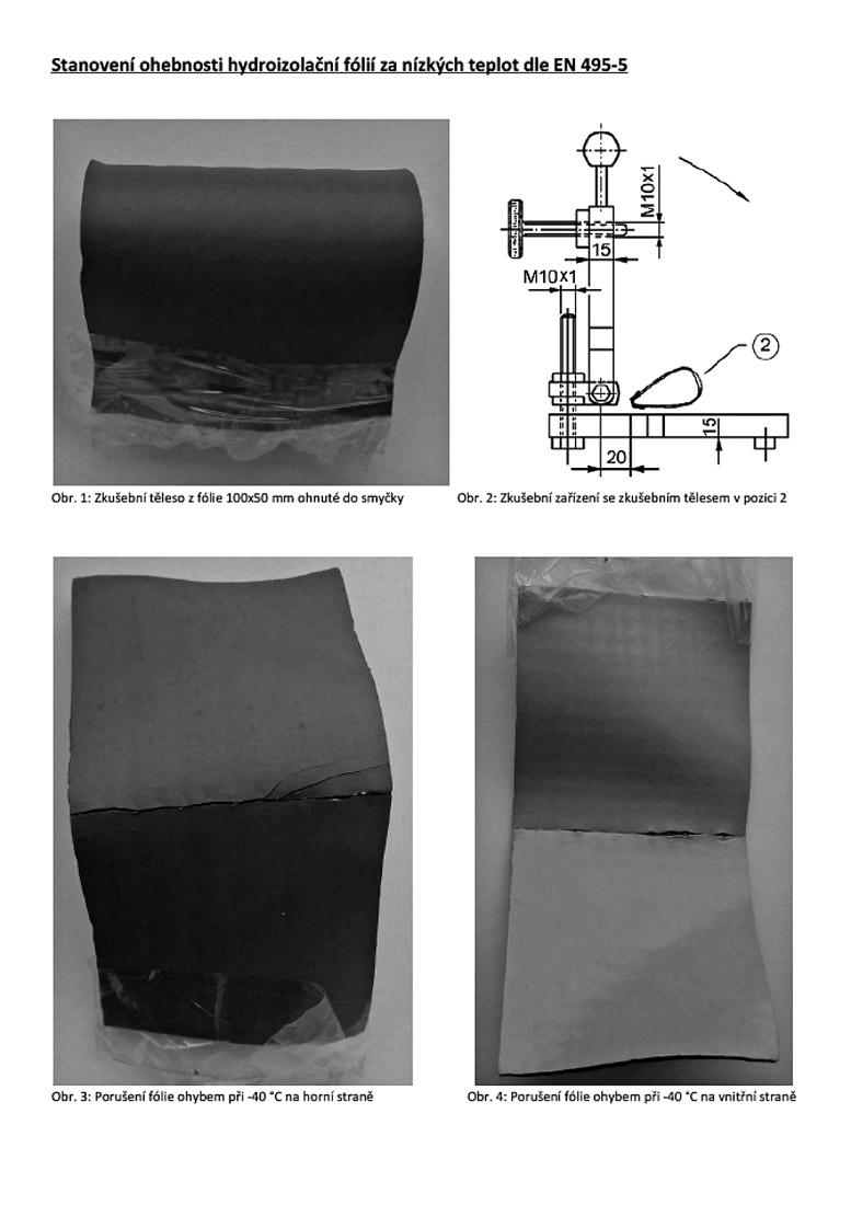 Obr. 8a: Dokumentace trhliny ve fóliové hydroizolaci