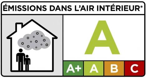 Obr. 3: Značka pro povinné označení výrobků používané ve Francii pro výrobky ovlivňující vnitřní prostředí budovy