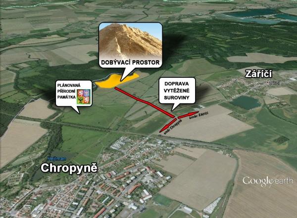 Obyvatelé Chropyně odmítli v referendu těžbu štěrkopísku