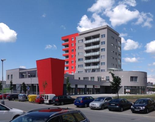 Bytový dům Naroží v Olomouci s ETICS s kamennou vlnou Rockwool