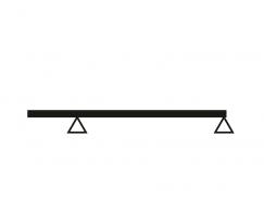 Obr. 1: Vykonzolovaný prostý nosník