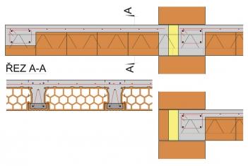 Obr. 7: Vložení tepelné izolace na celou výšku mezi trámy