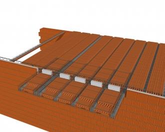 Obr. 9: Vyztužení balkónu; a – před betonáží