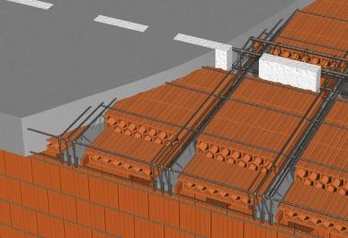 Obr. 9: Vyztužení balkónu; b – po betonáži