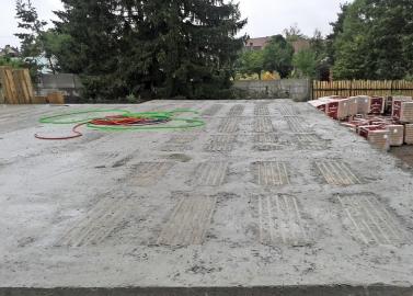 Obr. 16: Řešení balkónu z vložek pro strop bez nadbetonávky po betonáži