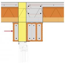 Obr. 17: Správně provedené nadpraží pod balkónem