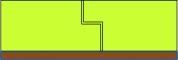 Obr. 7: Pěnové plasty: spoje izolace na doraz, hrana ozub nebo izolace ve vícero vrstvách s prostřídanými spárami (úroveň korekce č. 1/ΔU 0,01; úroveň korekce č. 2/ΔU 0,04)