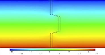 Obr. 19: Spoj na P+D, tl. 120 mm – spára 5 mm