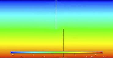 Obr. 20: Spoj na ozub, tl. 120 mm – spára 1 mm