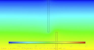 Obr. 21: Spoj na ozub, tl. 120 mm – spára 3 mm