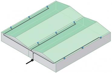 Obr. 3: Schéma podtlakového systému odvodnění