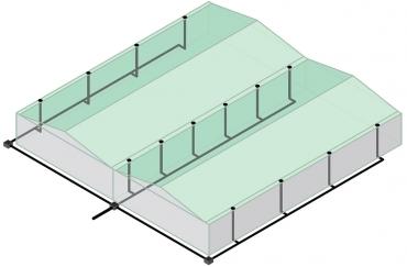 Obr. 4: Schéma gravitačního systému odvodnění