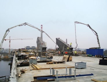 Obr. 12: Betonáž Trojského mostu