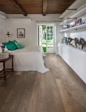 Dřevěná podlaha Karelia, kolekce Impressio, dekor  Dub Story 187 Smoked Charcoal Grey