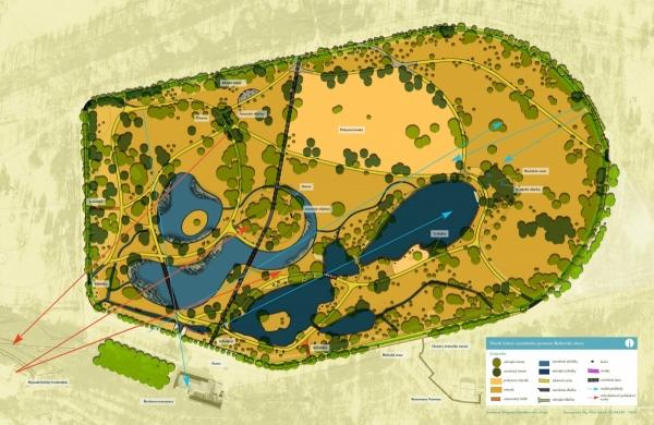 Plán rekonstrukce centrální části Stromovky (zdroj Portál životního prostředí hl. m. Prahy)