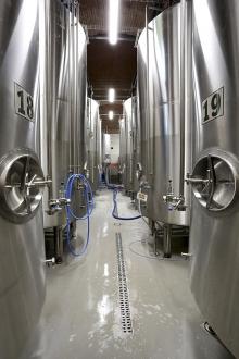 Snímky zprovozu výroby piva