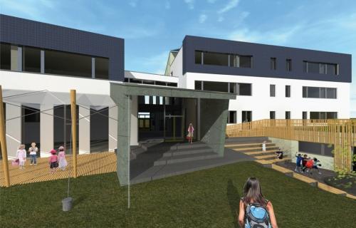 Přestavba základní školy Kněžmost