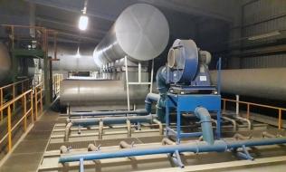 Pohled na vybavení chladicího pásma pece