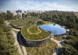 Severní vstup do botanické zahrady v Praze-Troji, ateliéru Fránek Architects