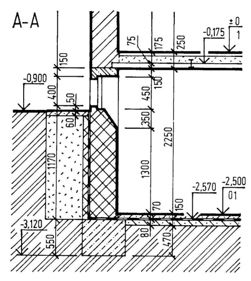 Příklad vyprojektovaného podkladního betonu [3]