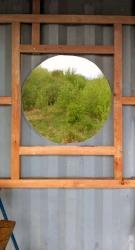 Obr. 3: Rošt pro opláštění kolem kruhového okna