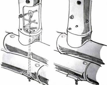 Obr. 2: Detaily spojení prvků bambusové konstrukce