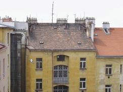 Původní stav fasády do dvora