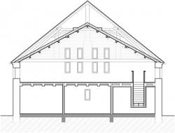 Řez stodolou