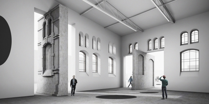 Návrh rekonstrukce bývalých jatek v Ostarvě od architekta Roberta Konieczného (KWK Promes)