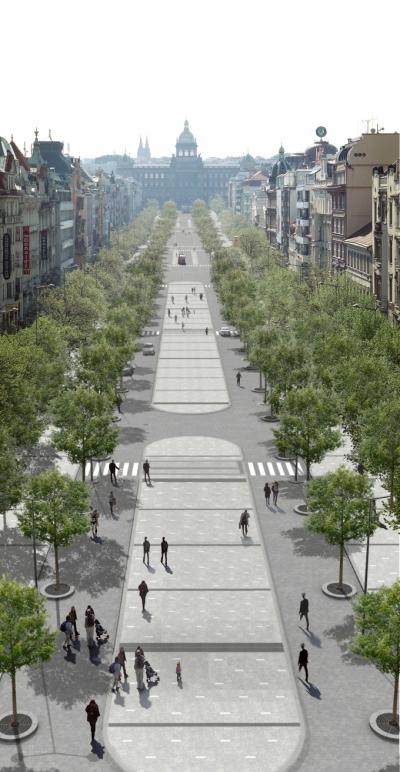 Revitalizace Václavského náměstí, Cigler Marani architects